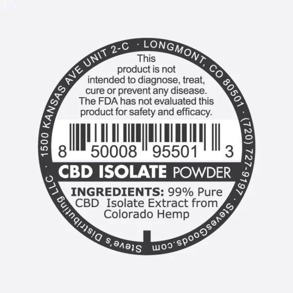 CBD CBG Isolate 1G v2 CBD Isolate P back
