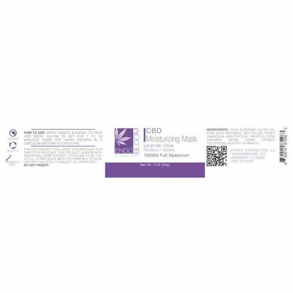 CBD Moisturizing Mask 150mg label