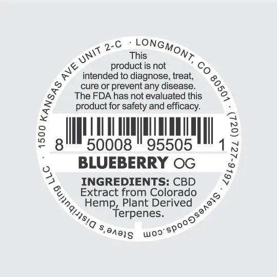 Shatters 1G v2 Blueberry back 1.0g