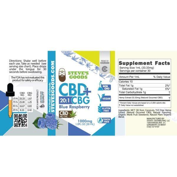BlueRaspberry 30mL 1000mg label